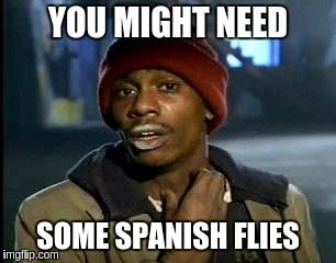 Y'all Got Any More Of That Meme | YOU MIGHT NEED SOME SPANISH FLIES | image tagged in memes,yall got any more of | made w/ Imgflip meme maker