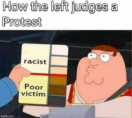 Might as well go home.  | How the left judges a Protest | image tagged in funny meme,protest,peter griffin,profile picture | made w/ Imgflip meme maker