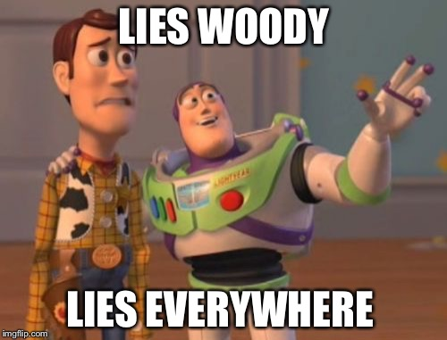 X, X Everywhere Meme | LIES WOODY LIES EVERYWHERE | image tagged in memes,x,x everywhere,x x everywhere | made w/ Imgflip meme maker