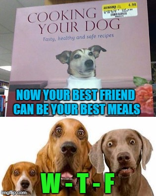 What if that really IS the real title!!! | NOW YOUR BEST FRIEND CAN BE YOUR BEST MEALS W - T - F | image tagged in pet cookbook,memes,dogs,funny,cookbook,animals | made w/ Imgflip meme maker