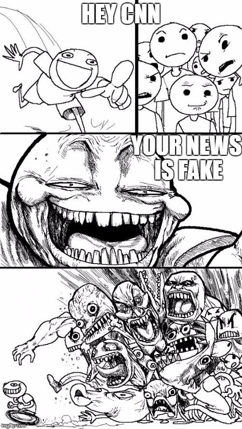 Hey Internet Meme | HEY CNN YOUR NEWS IS FAKE | image tagged in memes,hey internet | made w/ Imgflip meme maker