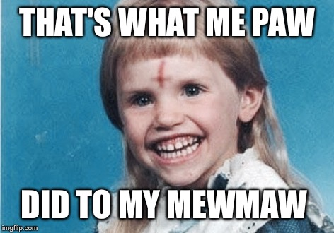 Evil Girl | THAT'S WHAT ME PAW DID TO MY MEWMAW | image tagged in evil girl | made w/ Imgflip meme maker