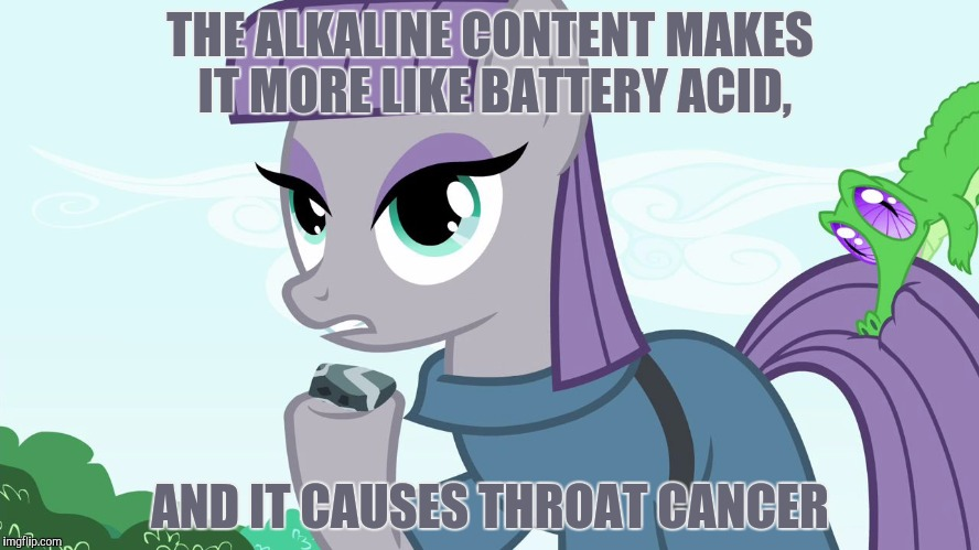 ILikeRock | THE ALKALINE CONTENT MAKES IT MORE LIKE BATTERY ACID, AND IT CAUSES THROAT CANCER | image tagged in ilikerock | made w/ Imgflip meme maker