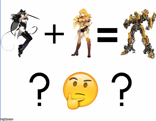 Science explains why bumblebee shippers are wrong. | image tagged in rwby,yang xiao long,blake,yang,bumblebee,shipping | made w/ Imgflip meme maker