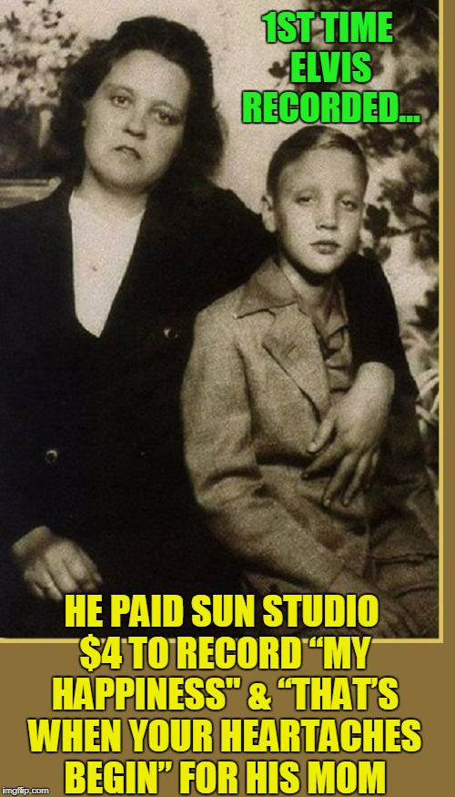"Elvis Trivia #1 | 1ST TIME ELVIS RECORDED... HE PAID SUN STUDIO $4 TO RECORD ""MY HAPPINESS"" & ""THAT'S WHEN YOUR HEARTACHES BEGIN"" FOR HIS MOM 