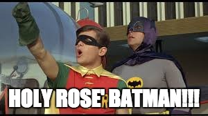 HOLY ROSE' BATMAN!!! | image tagged in holy rose' batman | made w/ Imgflip meme maker