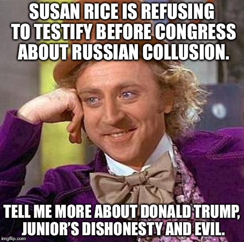 The light flipped on, now the cockroaches are starting to scatter. |  SUSAN RICE IS REFUSING TO TESTIFY BEFORE CONGRESS ABOUT RUSSIAN COLLUSION. TELL ME MORE ABOUT DONALD TRUMP, JUNIOR'S DISHONESTY AND EVIL. | image tagged in 2017,susan rice,russians,collusion,donald trump jr,congress | made w/ Imgflip meme maker