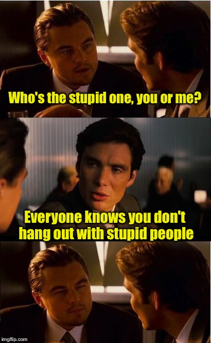 "How to say ""you're the stupid one"" without actually saying it.  