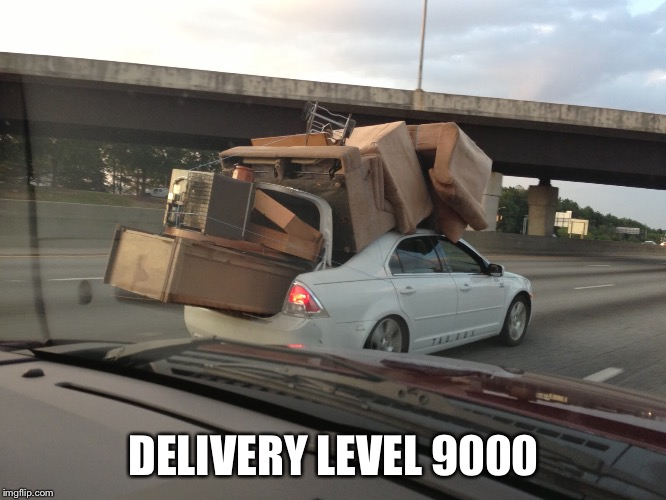 DELIVERY LEVEL 9000 | made w/ Imgflip meme maker