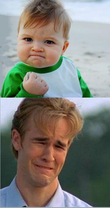 happy sad success kid crying 90s guy blank template imgflip