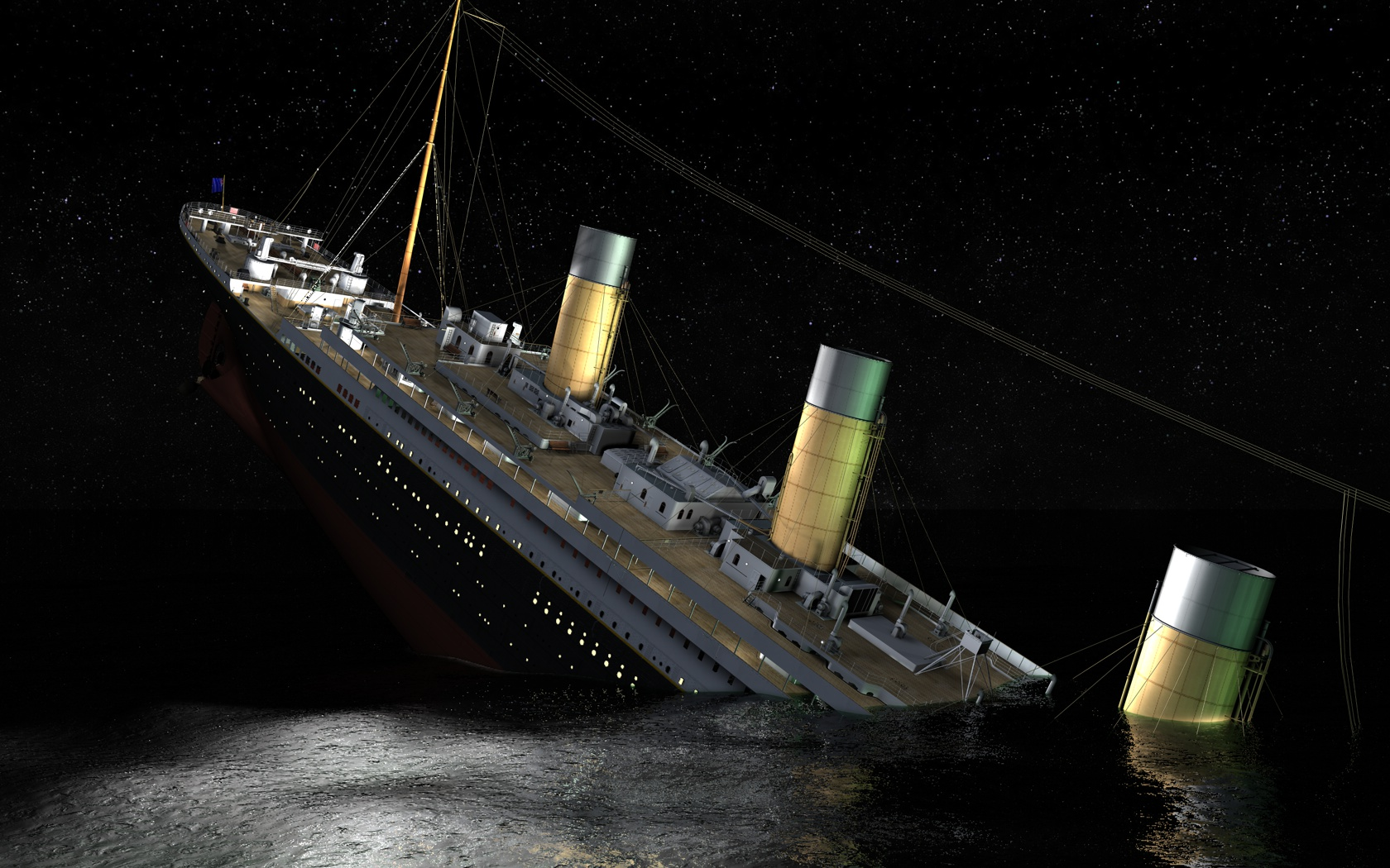 the sinking of the titanic The sinking of the titanic occurred on april 15, 1912 in the north atlantic ocean, four days into the ship's maiden voyage from southampton to new york city the largest passenger liner in service at the time, titanic had an estimated 2,224 people on board when she hit an iceberg.