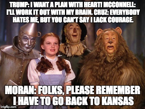 TRUMP: I WANT A PLAN WITH HEART! MCCONNELL: I'LL WORK IT OUT WITH MY BRAIN. CRUZ: EVERYBODY HATES ME, BUT YOU CAN'T SAY I LACK COURAGE. MORA | made w/ Imgflip meme maker