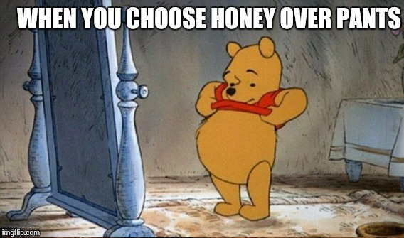 WHEN YOU CHOOSE HONEY OVER PANTS | made w/ Imgflip meme maker