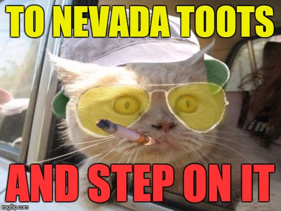 TO NEVADA TOOTS AND STEP ON IT | made w/ Imgflip meme maker