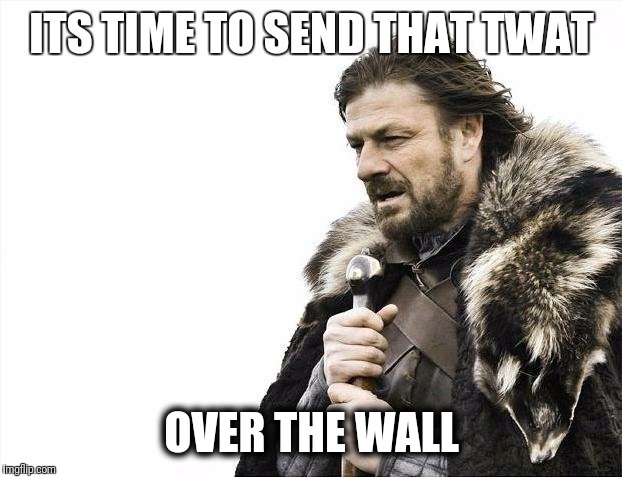 #Bruce Jenner | ITS TIME TO SEND THAT TWAT OVER THE WALL | image tagged in memes,brace yourselves x is coming,retarded liberal protesters,bruce jenner,fail,gender identity | made w/ Imgflip meme maker