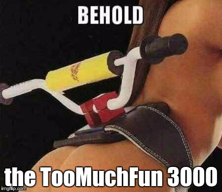 the TooMuchFun 3000 | made w/ Imgflip meme maker