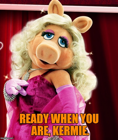 READY WHEN YOU ARE, KERMIE. | made w/ Imgflip meme maker