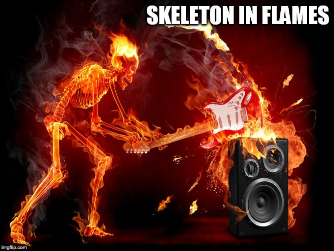 SKELETON IN FLAMES | made w/ Imgflip meme maker