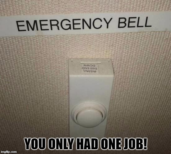 You only had one job! | YOU ONLY HAD ONE JOB! | image tagged in you only had one job | made w/ Imgflip meme maker