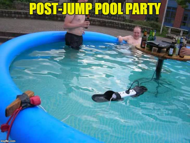 POST-JUMP POOL PARTY | made w/ Imgflip meme maker