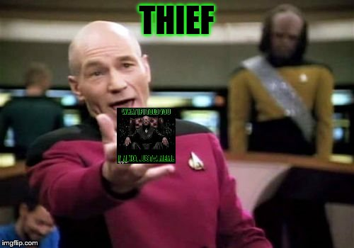 Picard Wtf Meme | THIEF | image tagged in memes,picard wtf | made w/ Imgflip meme maker