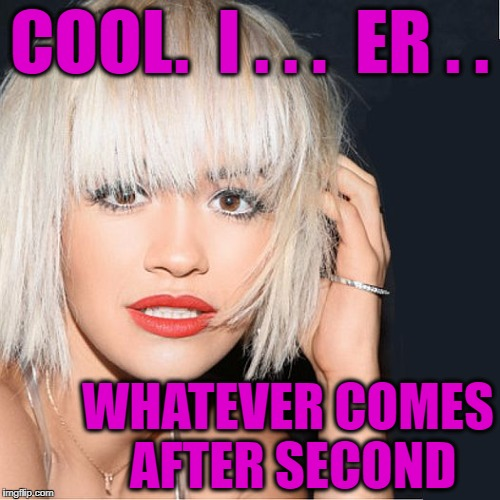 ditz | COOL.  I . . .  ER . . WHATEVER COMES AFTER SECOND | image tagged in ditz | made w/ Imgflip meme maker