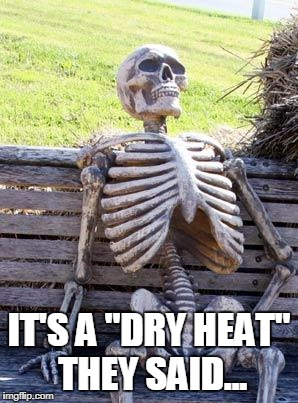 "I was worried about those triple digits in Las Vegas...  | IT'S A ""DRY HEAT"" THEY SAID... 