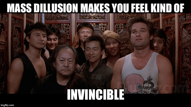 In this world of Alternative Facts | MASS DILLUSION MAKES YOU FEEL KIND OF INVINCIBLE | image tagged in feelin invincible,funny,trump,libtards,memes,animals | made w/ Imgflip meme maker