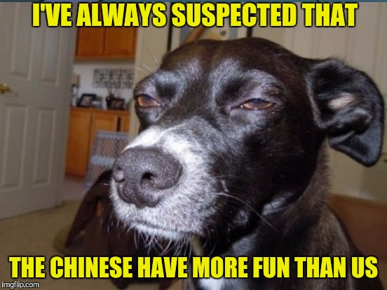 I'VE ALWAYS SUSPECTED THAT THE CHINESE HAVE MORE FUN THAN US | made w/ Imgflip meme maker