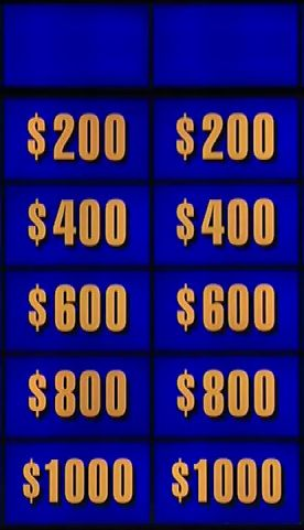 Jeopardy Two Categories Blank Template  Imgflip