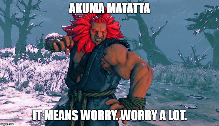AKUMA MATATTA IT MEANS WORRY. WORRY A LOT. | made w/ Imgflip meme maker