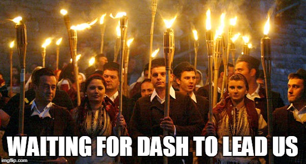 WAITING FOR DASH TO LEAD US | made w/ Imgflip meme maker