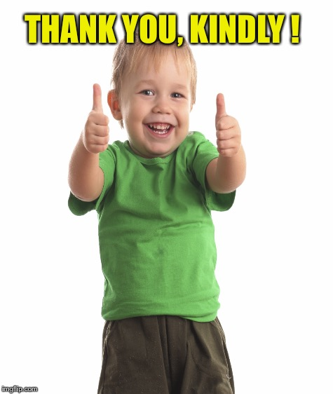 THANK YOU, KINDLY ! | made w/ Imgflip meme maker
