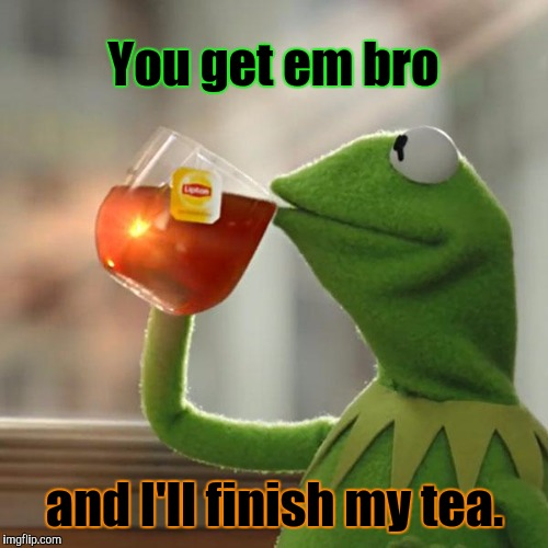 But Thats None Of My Business Meme | You get em bro and I'll finish my tea. | image tagged in memes,but thats none of my business,kermit the frog | made w/ Imgflip meme maker