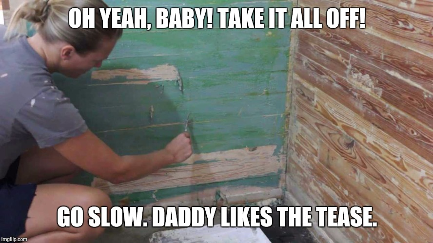 OH YEAH, BABY! TAKE IT ALL OFF! GO SLOW. DADDY LIKES THE TEASE. | made w/ Imgflip meme maker