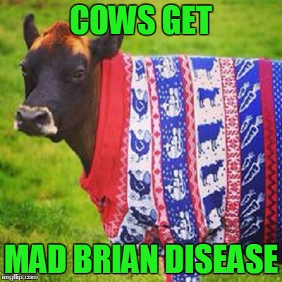 COWS GET MAD BRIAN DISEASE | made w/ Imgflip meme maker