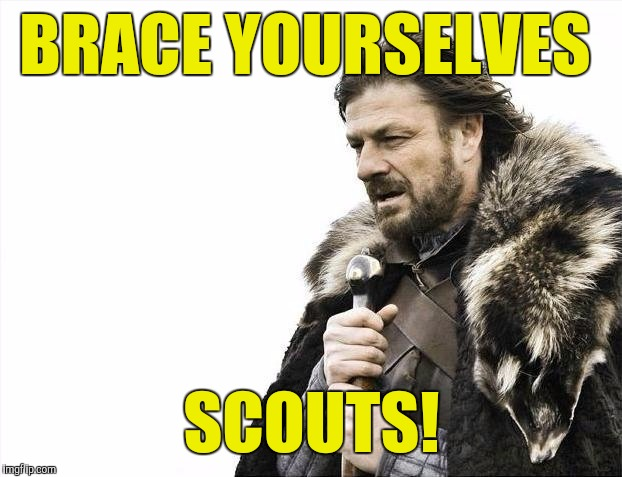 Brace Yourselves X is Coming Meme | BRACE YOURSELVES SCOUTS! | image tagged in memes,brace yourselves x is coming | made w/ Imgflip meme maker