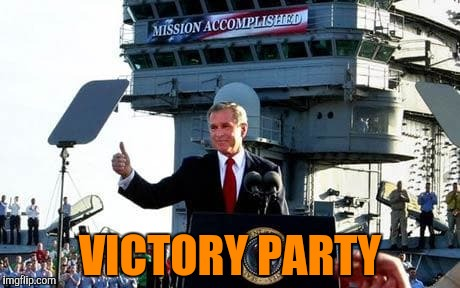 VICTORY PARTY | made w/ Imgflip meme maker