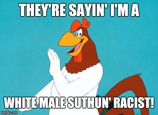 THEY'RE SAYIN' I'M A WHITE MALE SUTHUN' RACIST! | made w/ Imgflip meme maker