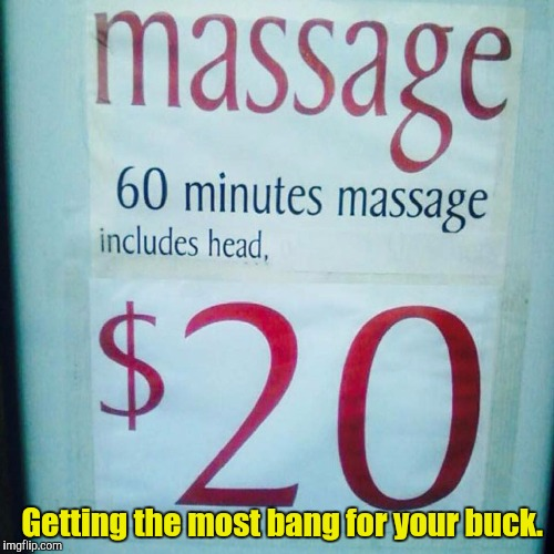 "Sooo...they have a masseuse and a ""head""  masseuse?  