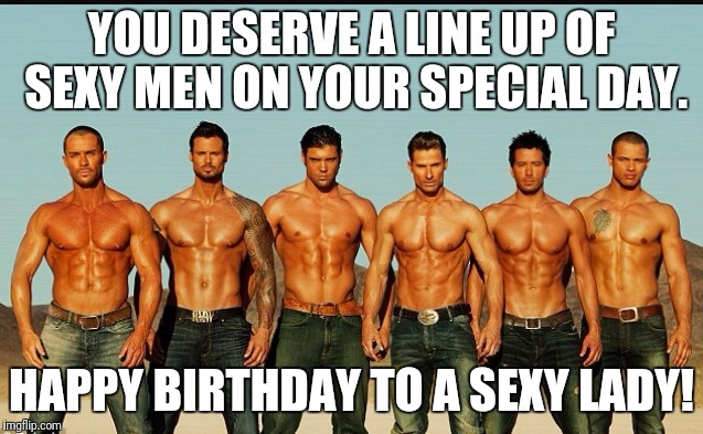 Sexy happy birthday images for men