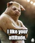 I like your attitude. | made w/ Imgflip meme maker