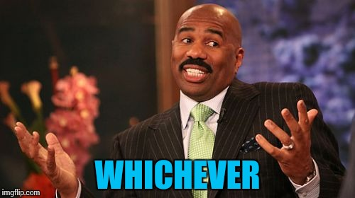 Steve Harvey Meme | WHICHEVER | image tagged in memes,steve harvey | made w/ Imgflip meme maker