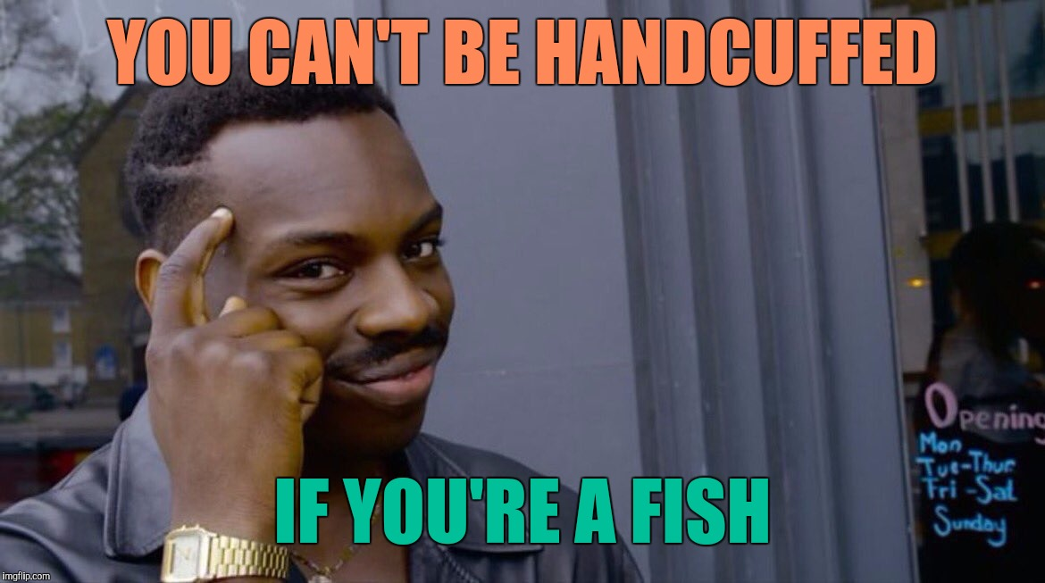 So, What Are You Trying To Say ? | YOU CAN'T BE HANDCUFFED IF YOU'RE A FISH | image tagged in memes,eddie murphy | made w/ Imgflip meme maker