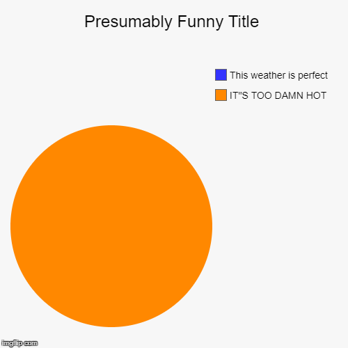 "IT""S TOO DAMN HOT, This weather is perfect 