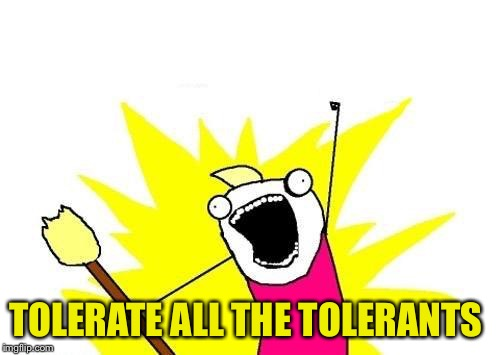 X All The Y Meme | TOLERATE ALL THE TOLERANTS | image tagged in memes,x all the y | made w/ Imgflip meme maker