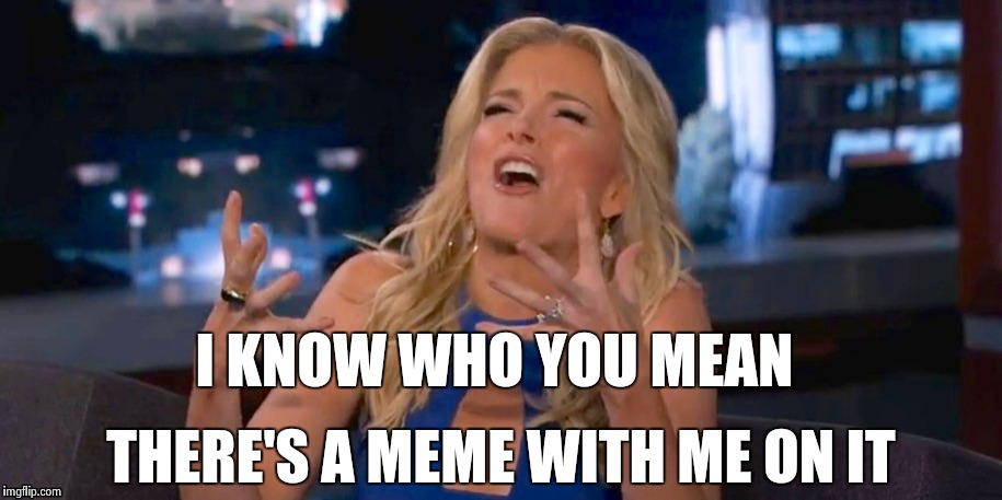 Megan Kelley | I KNOW WHO YOU MEAN THERE'S A MEME WITH ME ON IT | image tagged in megan kelley | made w/ Imgflip meme maker