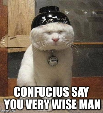 CONFUCIUS SAY YOU VERY WISE MAN | made w/ Imgflip meme maker