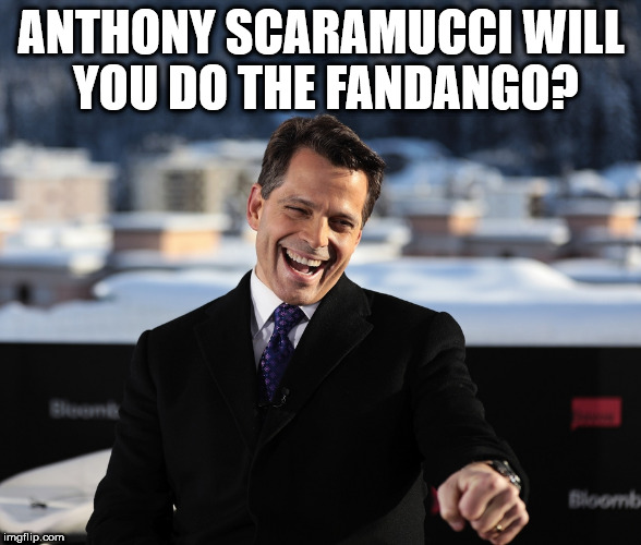 ANTHONY SCARAMUCCI WILL YOU DO THE FANDANGO? | image tagged in anthony scaramucci | made w/ Imgflip meme maker