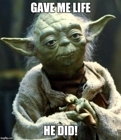 Star Wars Yoda Meme | GAVE ME LIFE HE DID! | image tagged in memes,star wars yoda | made w/ Imgflip meme maker